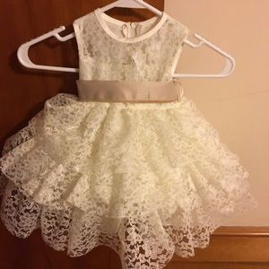 Other - 12-18 Month Baby Dress Ivory with additional sash